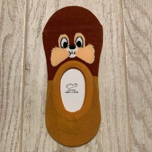 Chip and Dale no show liner socks-Chip only